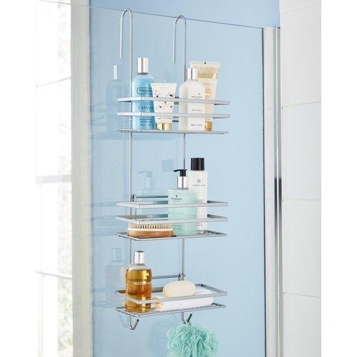 Metal Hanging Shower Caddy Wayfair Basics Hanging Shower Caddy Shower Storage Shower Caddy