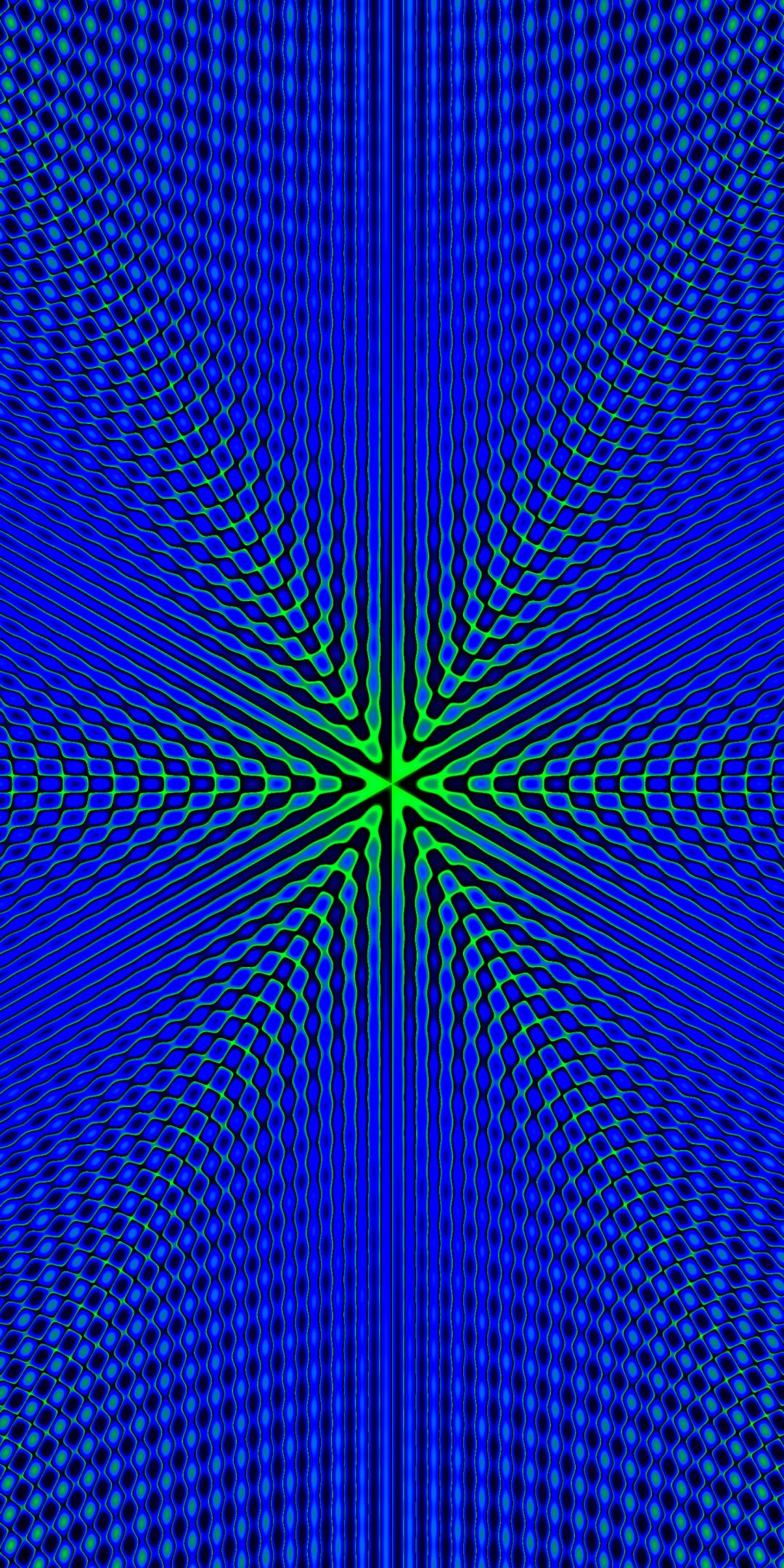 Fractal Blue Pattern Minimal 1080x2160 Wallpaper Iphone
