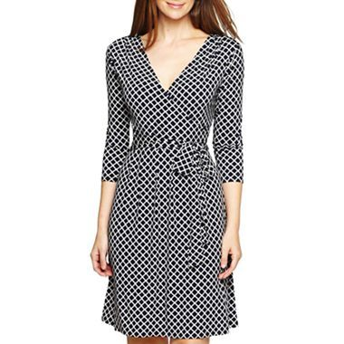 Liz Claiborne Mock Wrap Dress - jcpenney | Fashion | Pinterest | Kleider