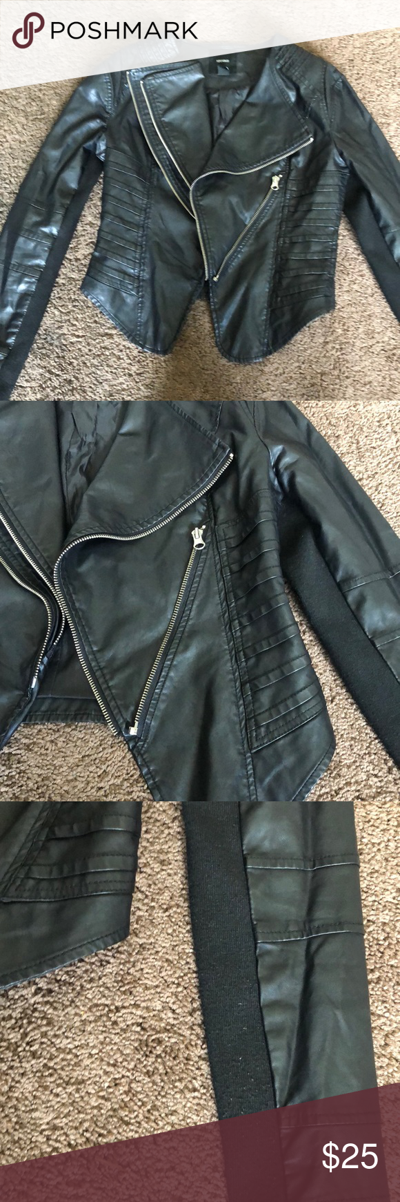Forever 21 Faux Leather Jacket Faux Leather Jackets Black Faux Leather Jacket Leather Jacket [ 1740 x 580 Pixel ]