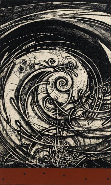 """spinning wind...etching by Takahiko Hayashi"""