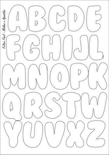 alfabeto en fieltro felt templates printable templates quiet book templates free printables