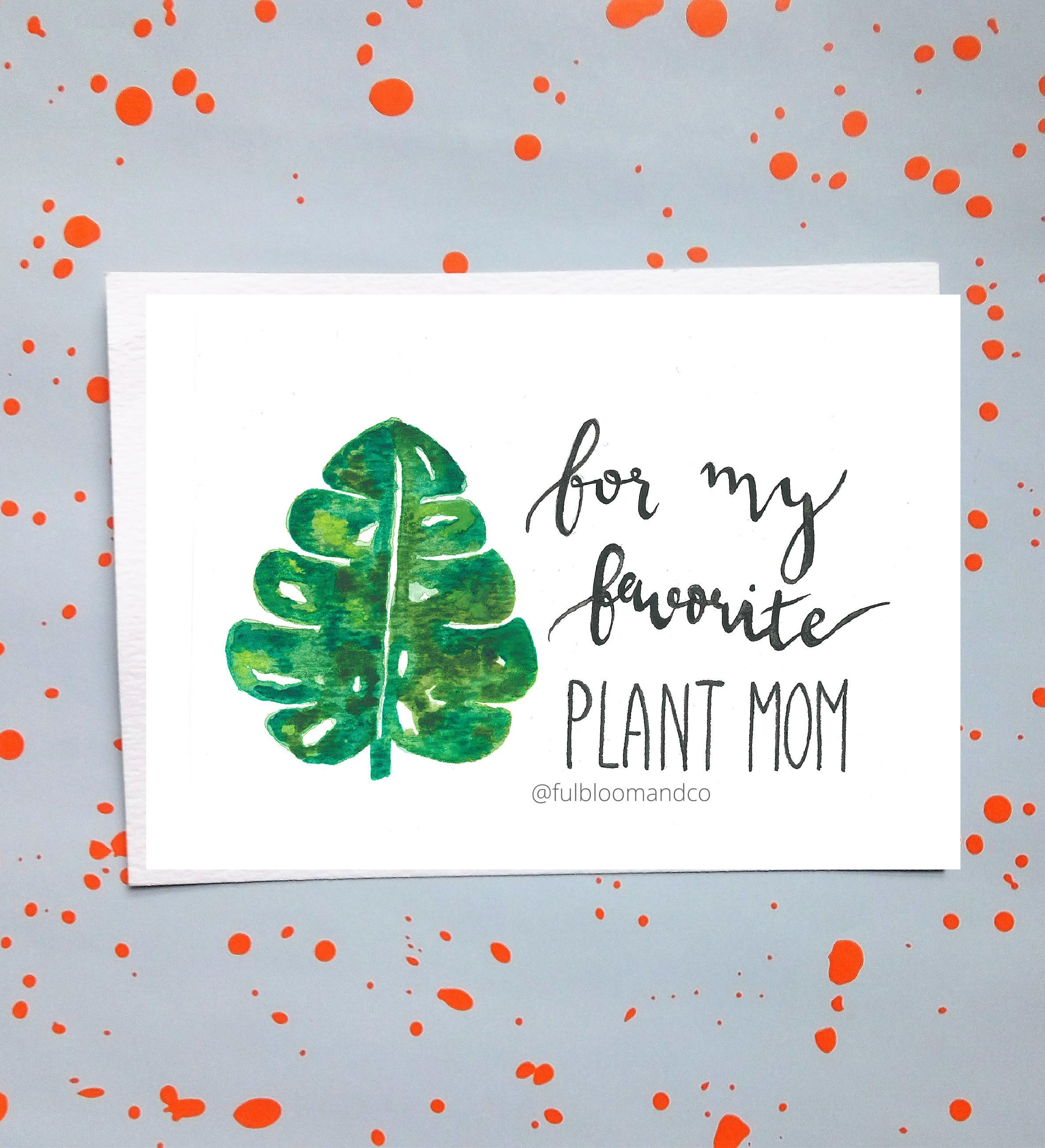 Excited To Share The Latest Addition My Etsy Shop Favorite Plant Mom Greeting