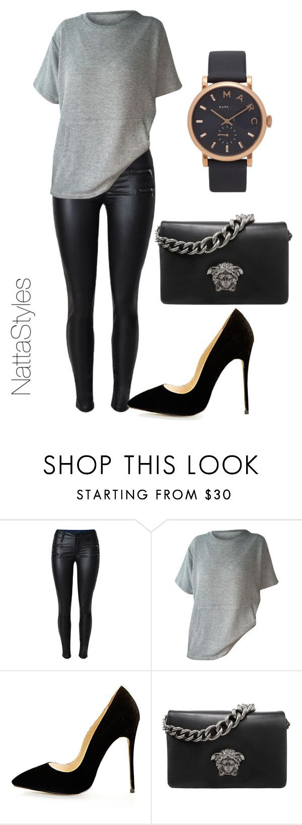 """dinner night"" by nattaca on Polyvore featuring Versace and Marc Jacobs"