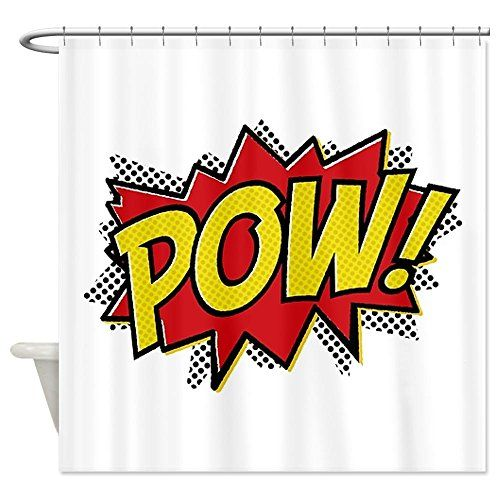 Curtains Ideas comic shower curtain : 17 Best images about Comic Book Shower Curtain on Pinterest ...
