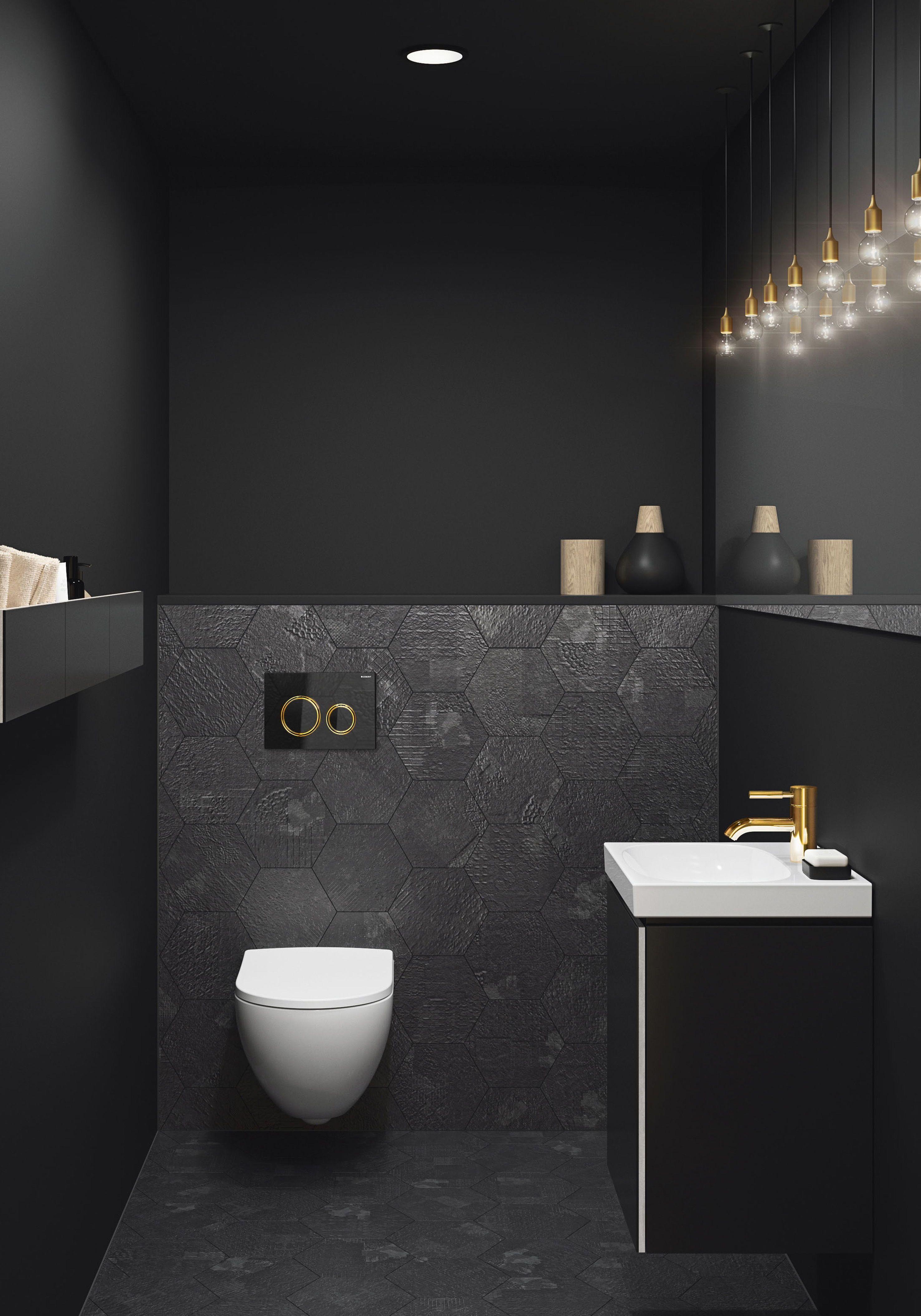 Finde Jetzt Dein Traumbad Wertvolle Tipps Von Der Planung Bis Zur Umsetzung In 2020 Wc Im Erdgeschoss Schwarzes Badezimmer Modernes Badezimmerdesign