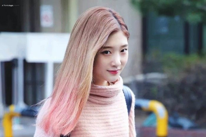 Instiz Female Idols Who Had Pink Ombre Hair Pann좋아 Pink Ombre Hair Ombre Hair Womens Hairstyles