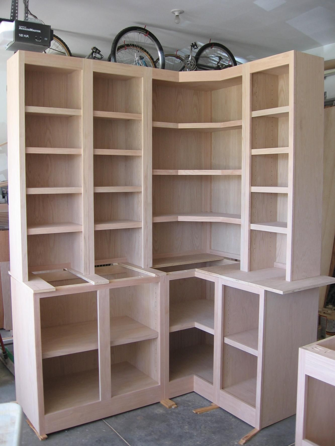Corner Cabinets W/Bookcases