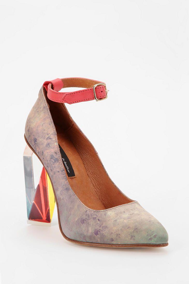 39c2fcc181b Miista Tara Faceted Heel  UrbanOutfitters Plastic Sandals