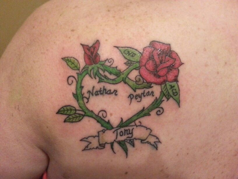 To honor my hubby girls and grandbabies the girls initials are in the leaves