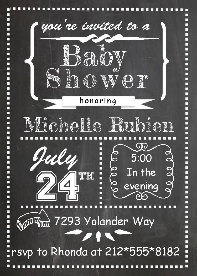Chalkboard Baby Shower Invitations | Baby Shower Invitations ...