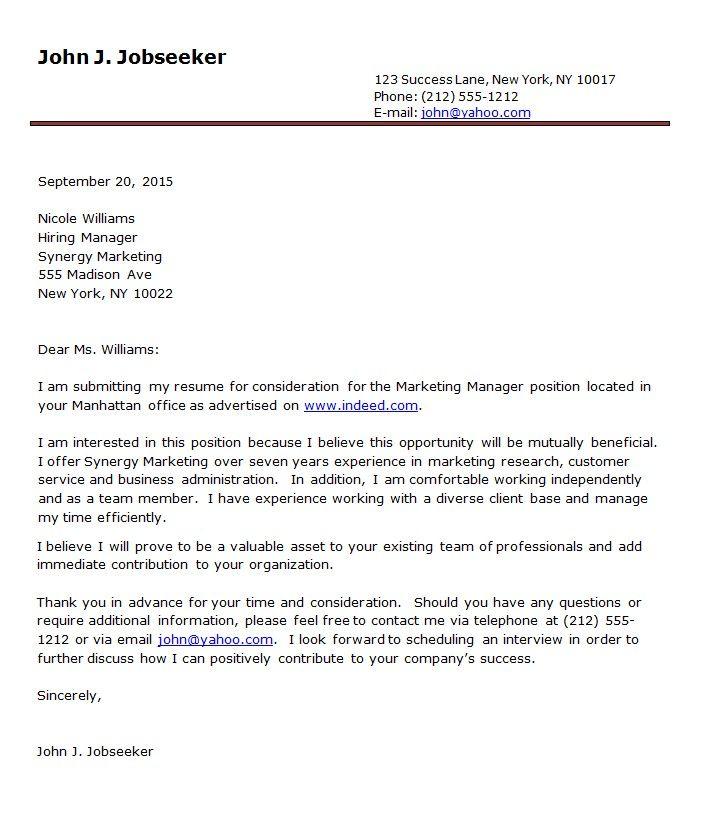 Resume Cover Letter Format Sample -    wwwresumecareerinfo - best of invitation letter format for australian business visa