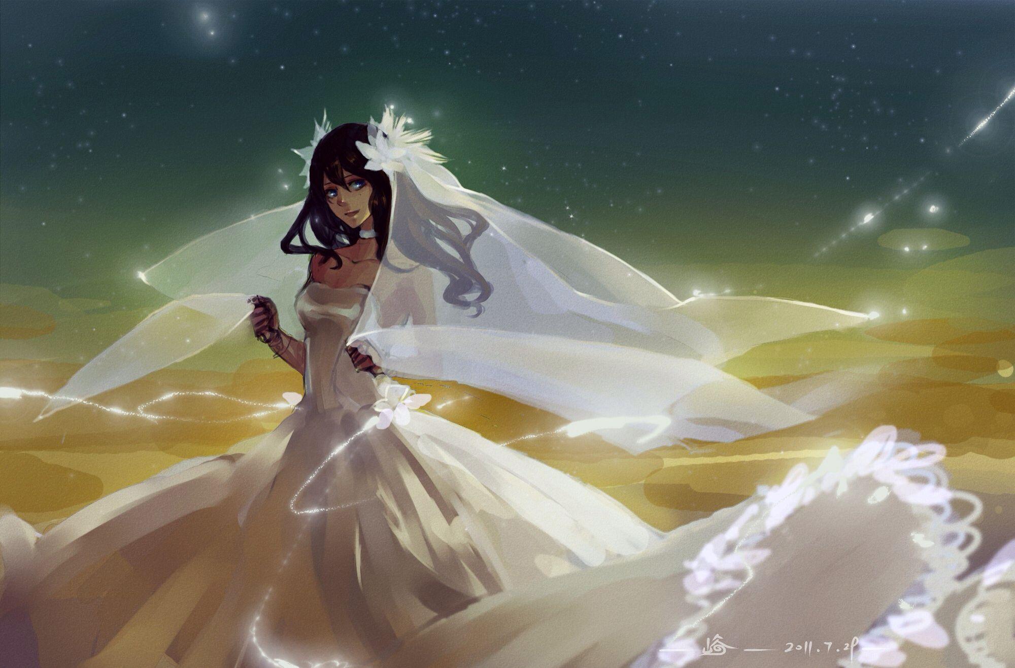 Sorta like a wedding dress anime girl