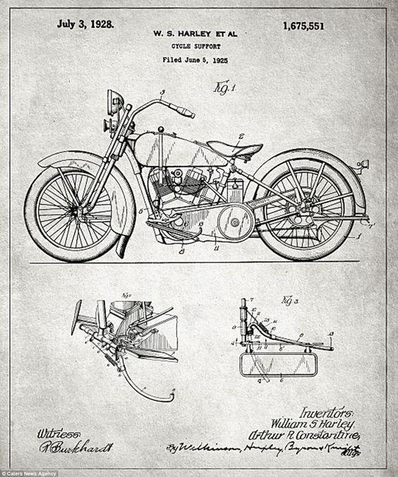 motorcycle blueprint - Buscar con Google Blue Pinterest Spaces - copy famous blueprint art