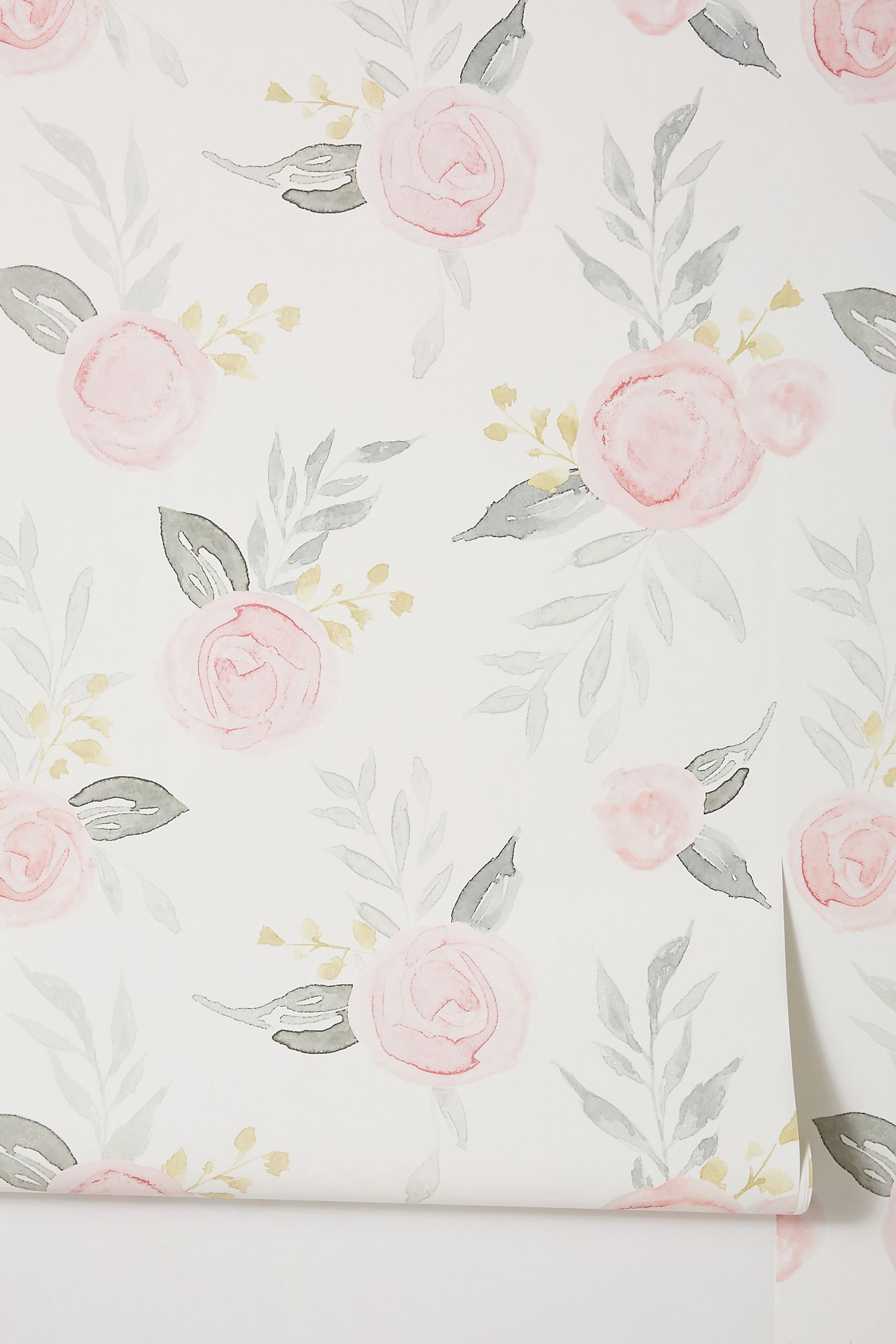 Magnolia Home Watercolor Roses Wallpaper Magnolia Wallpaper Girl Nursery Wallpaper Watercolor Floral Wallpaper