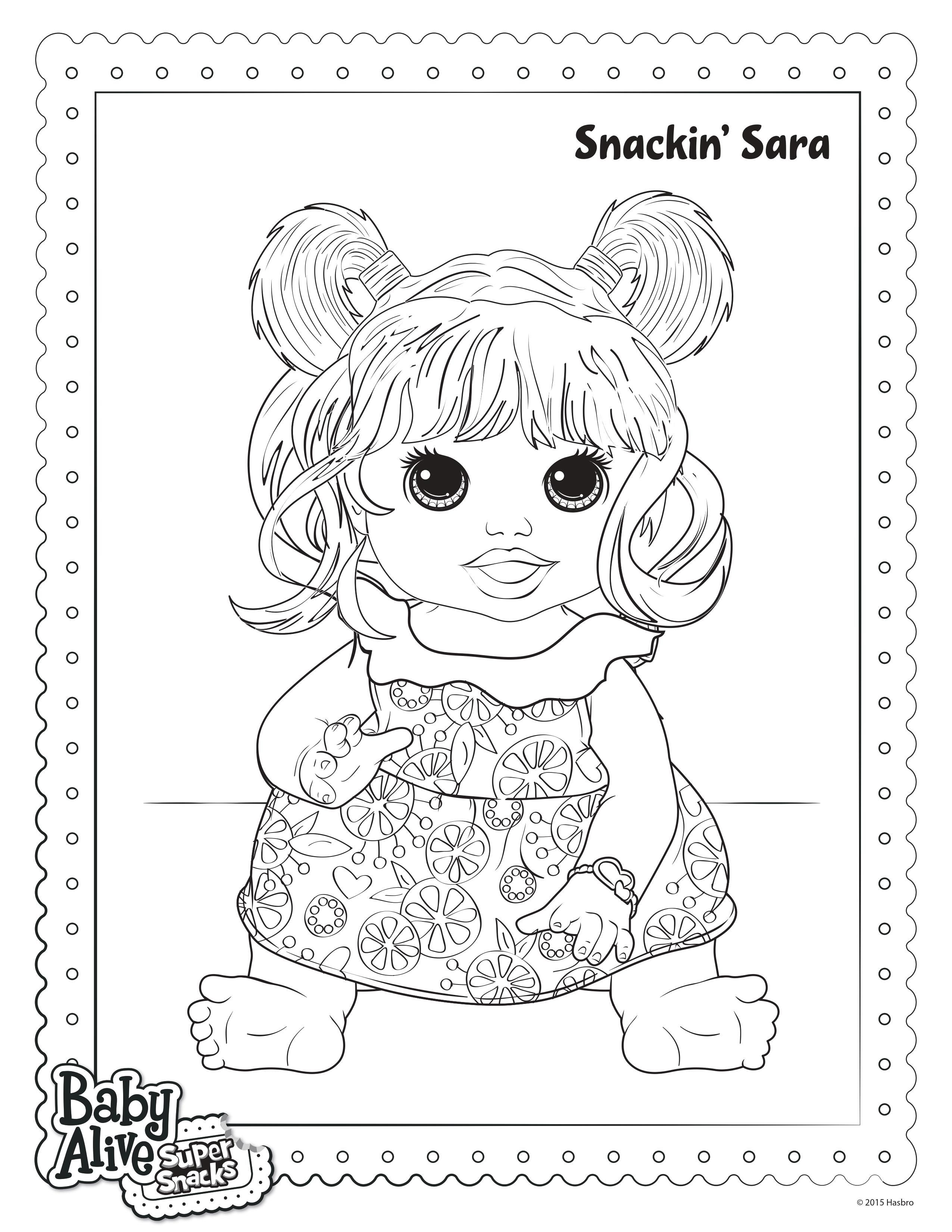 Baby Alive Para Colorir Coloring Pages Pinterest Baby Alive