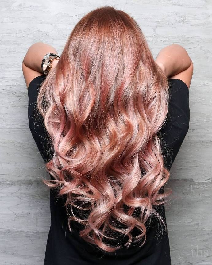 rose gold hair is the hottest trend this season hair. Black Bedroom Furniture Sets. Home Design Ideas