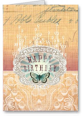 Papaya Art Birthday Butterfly Rays Blank Greeting Card Buy Cards Online In Australia