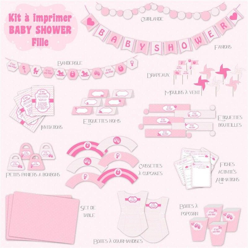 Printable baby shower fille rose kit anniversaire a imprimer minnie baby shower baby shower - Minnie jeux gratuit ...