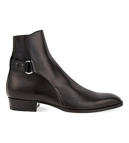 9c94914dc0863 SAINT LAURENT Eddie popper leather Chelsea boots