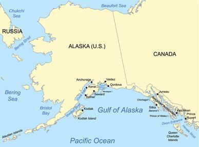 GisthubArena Gulf Of Alaska Where Two Oceans Meet But Do Not Mi - World map oceans seas gulfs