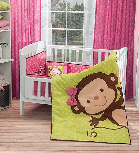 Juego de cuna baby monkey decoracion pinterest - Edredones de bebes ...