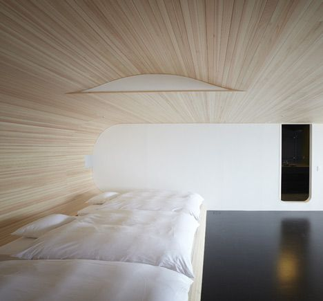 Japanese hotel room renovated by Touhoku University students.