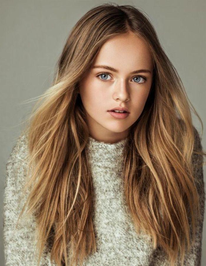 1001 variantes du balayage caramel pour sublimer votre coiffure balayage miel sur brune - Brun au yeux bleu ...