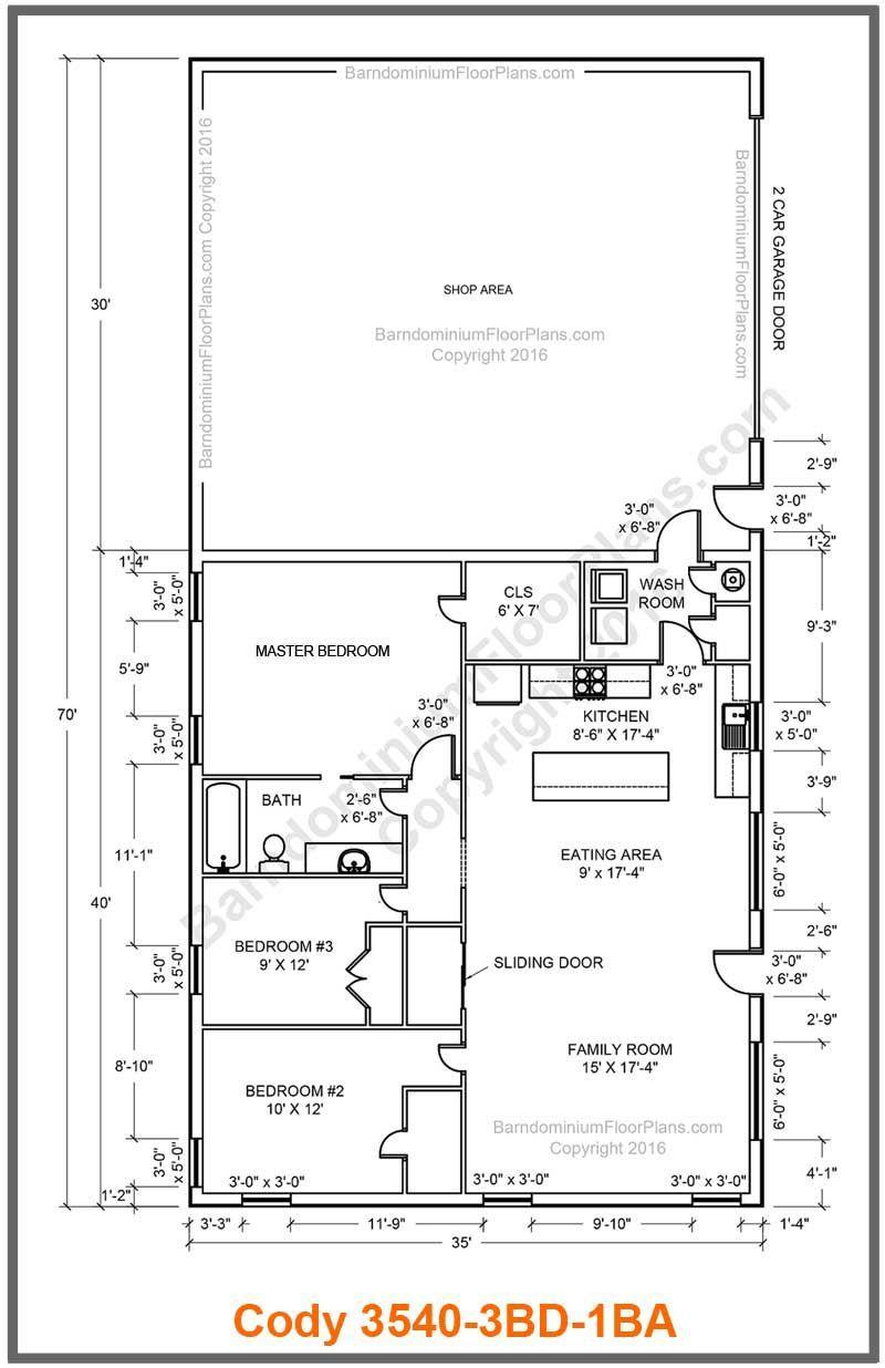 Best Barndominium Floor Plans For Planning Your Barndominium House Barndominium Floor Plans Pole Barn House Plans Barndominium Plans