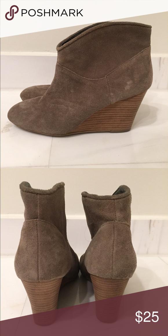 "b8ba377555f17 Aldo Grey Wedge Booties Ado Brand Grey suede 3"" heel Wedge Booties Aldo  Shoes Ankle Boots & Booties"