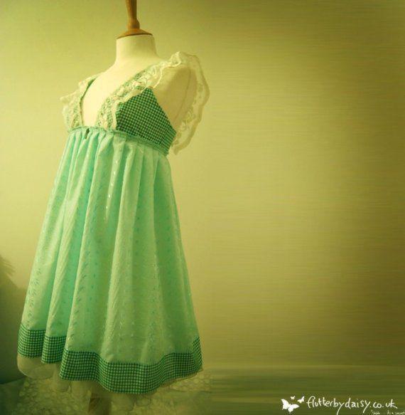 lolita in the secret garden dress in green with by Flutterbydaisy