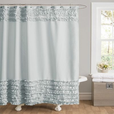 Cute Light Blue Ruffle Shower Curtain Ruffle Shower Curtains Fabric Shower Curtains Shower Curtain