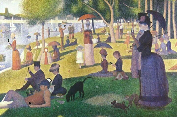 Kim Dong Kyu, sunday afternoon, 2013. Remake from Georges Seurat, Un dimanche aprés-midi à l'île de la Grande Jatte.