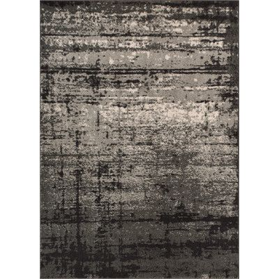 T Austin Design Coolidge Modern Distressed Gray Area Rug Size 2 3