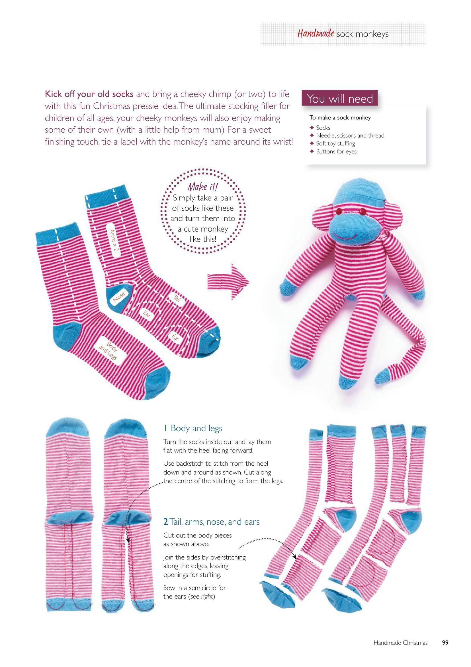 Bien connu chaussettes singes 2 | doudou couture | Pinterest | Singes  YK85