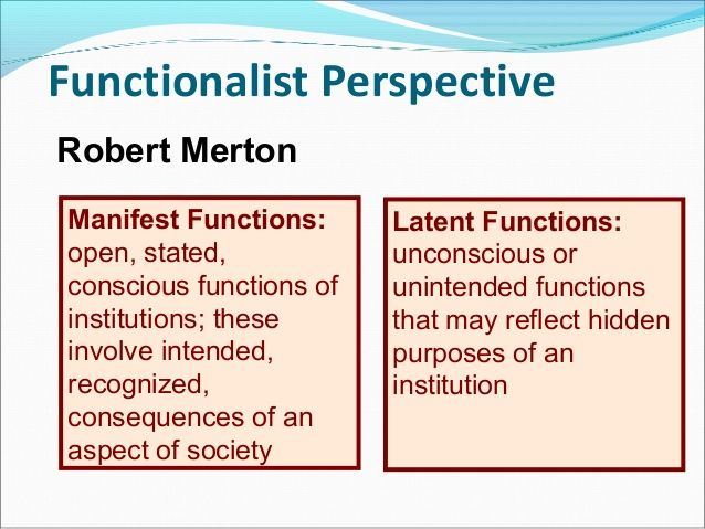 And functions sociology latent manifest MANIFEST AND