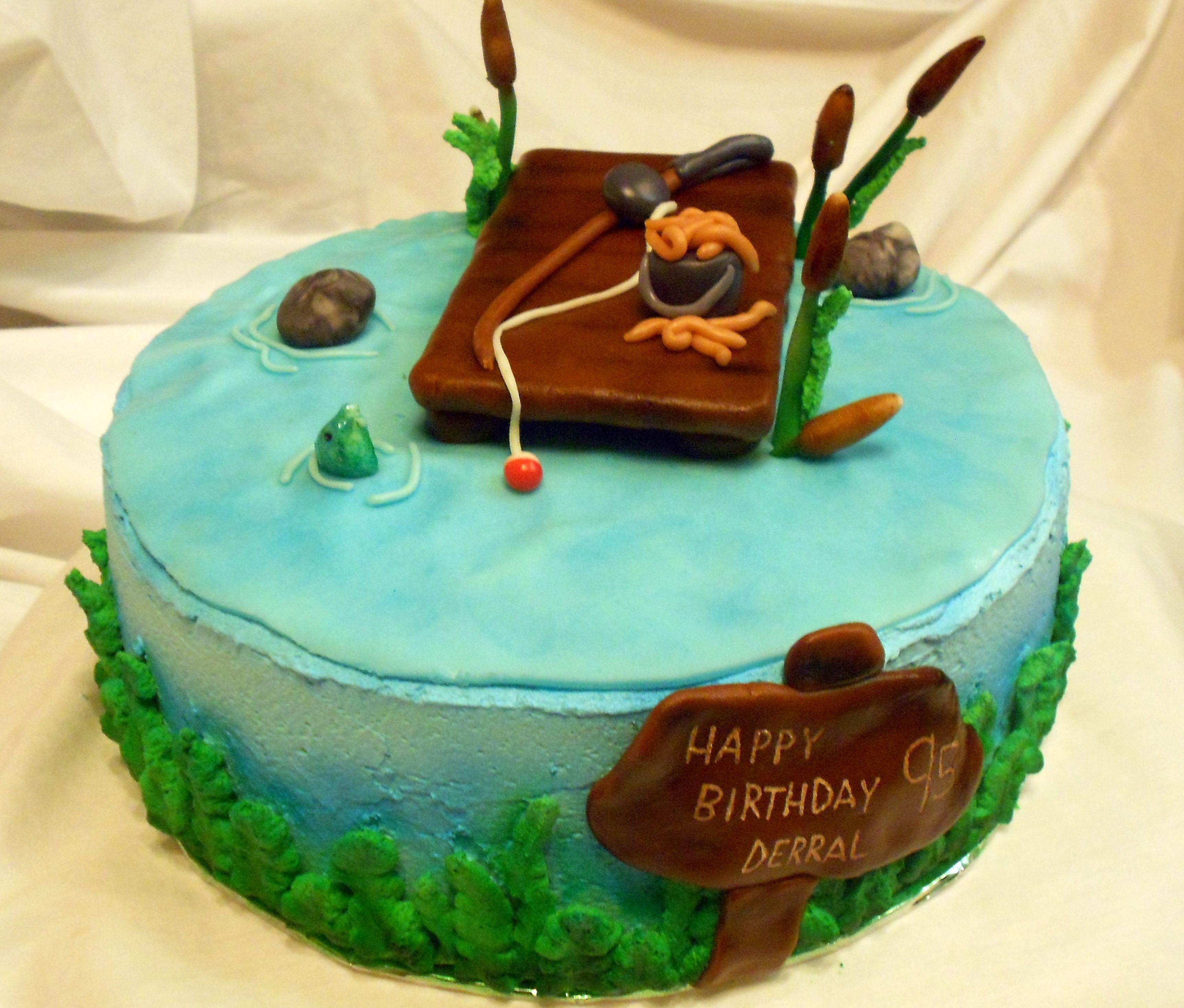 Gone Fishin'! #adeliciousday #cake #customcake #fishin' #fishing #ogden #tonyastoker #utah
