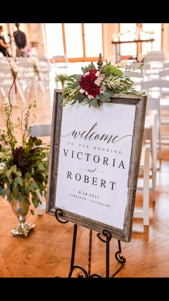 Elegant Welcome to our Wedding Sign Template Welcome Wedding