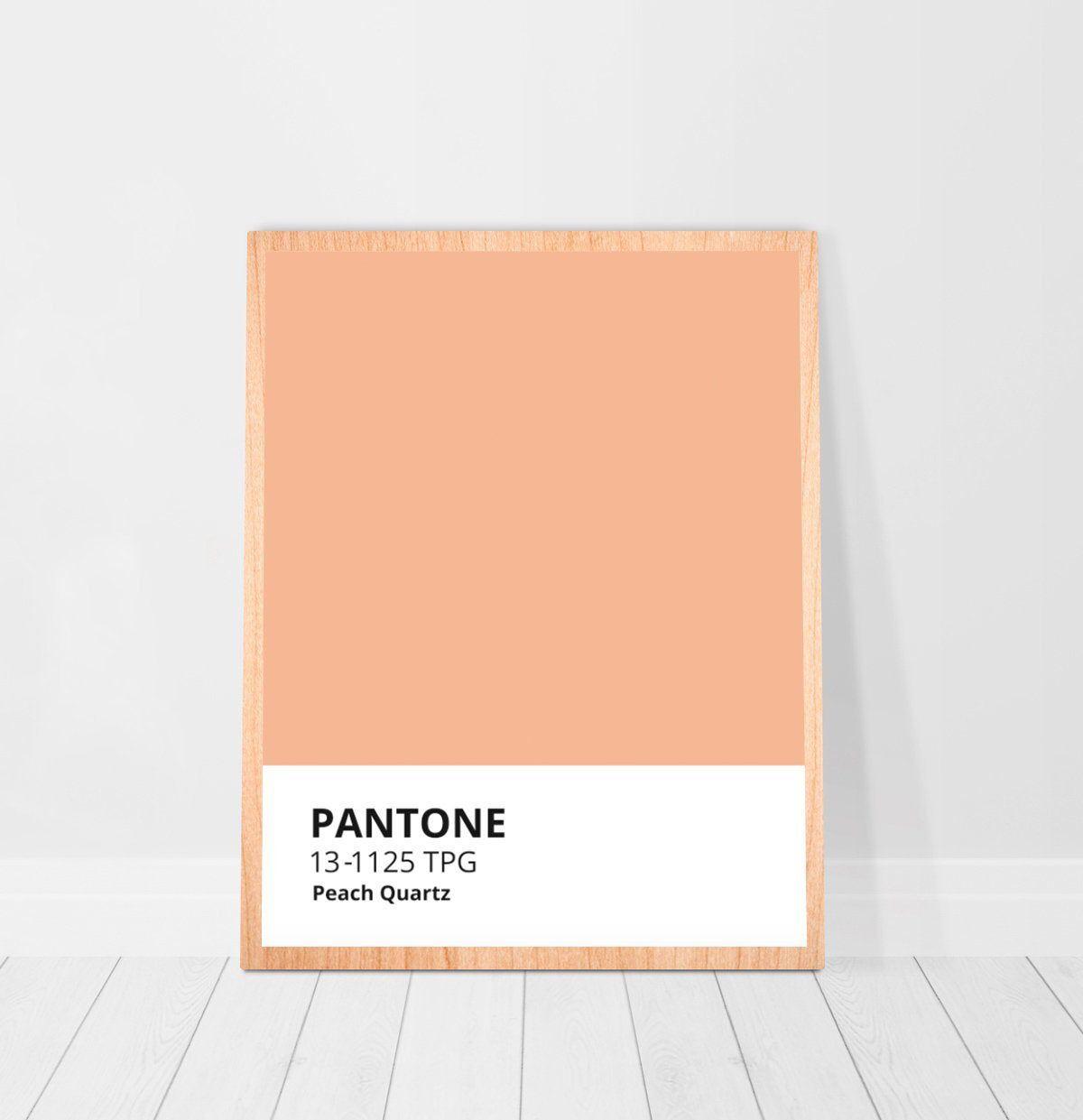 Pantone Color Peach Quartz Printable Wall Art Decor Apricot Etsy In 2020 Pastel Bedroom College Dorm Decorations Peach Paint