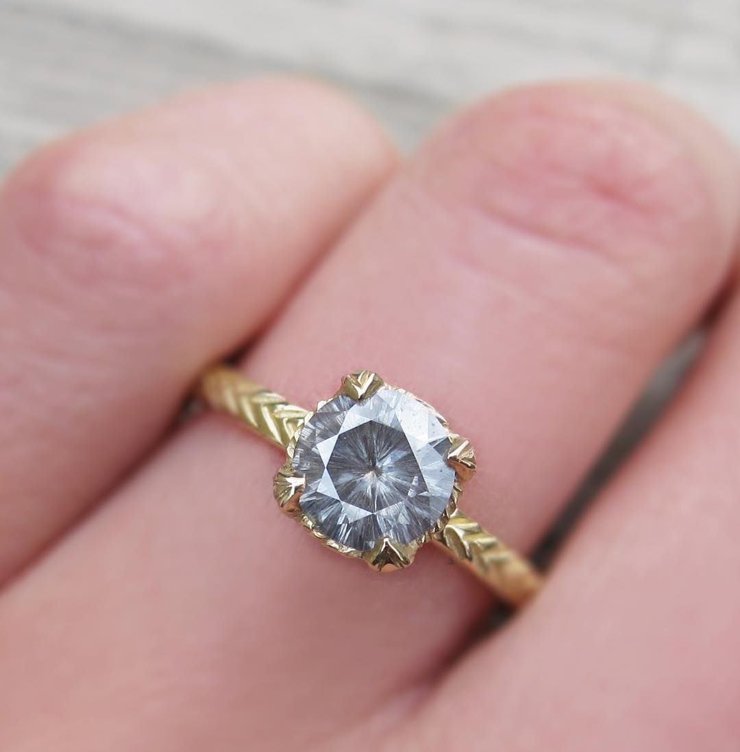 This little guy is in stock and ready to ship! A natural grey 1ct ...