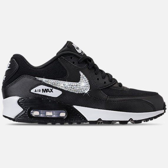 buy popular a8185 0a885 Swarovski Womens Nike Air Max 90 - Custom Nike Shoe - BLING Nike -  Bedazzled Nike - Sparkly Nike -