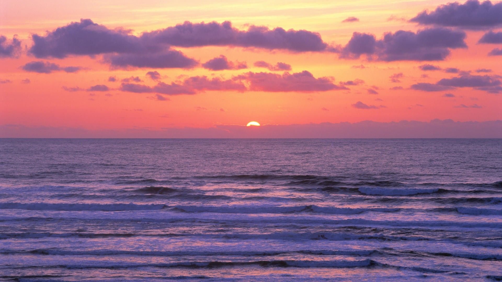 Purple Sunset Wallpaper 6807143 With Images Ocean Landscape Ocean Sunset Sunset Background