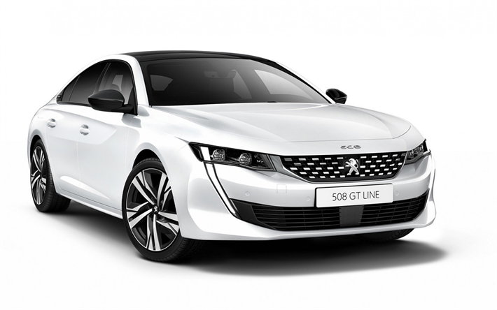 Download Wallpapers Peugeot 508 Gt Line 2019 New White 508 Sedan