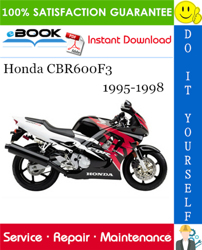 Honda Cbr600f3 Motorcycle Service Repair Manual 1995 1998 Download Repair Manuals Honda Repair