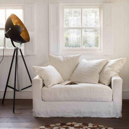 Hooray For Wrinkled Linen Oversized Arm Chairs Sillones