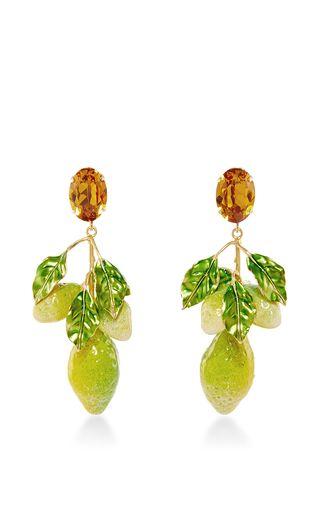 Crystal Clip On Lemon Earrings By Dolce Gabbana Now Available Moda Operandi