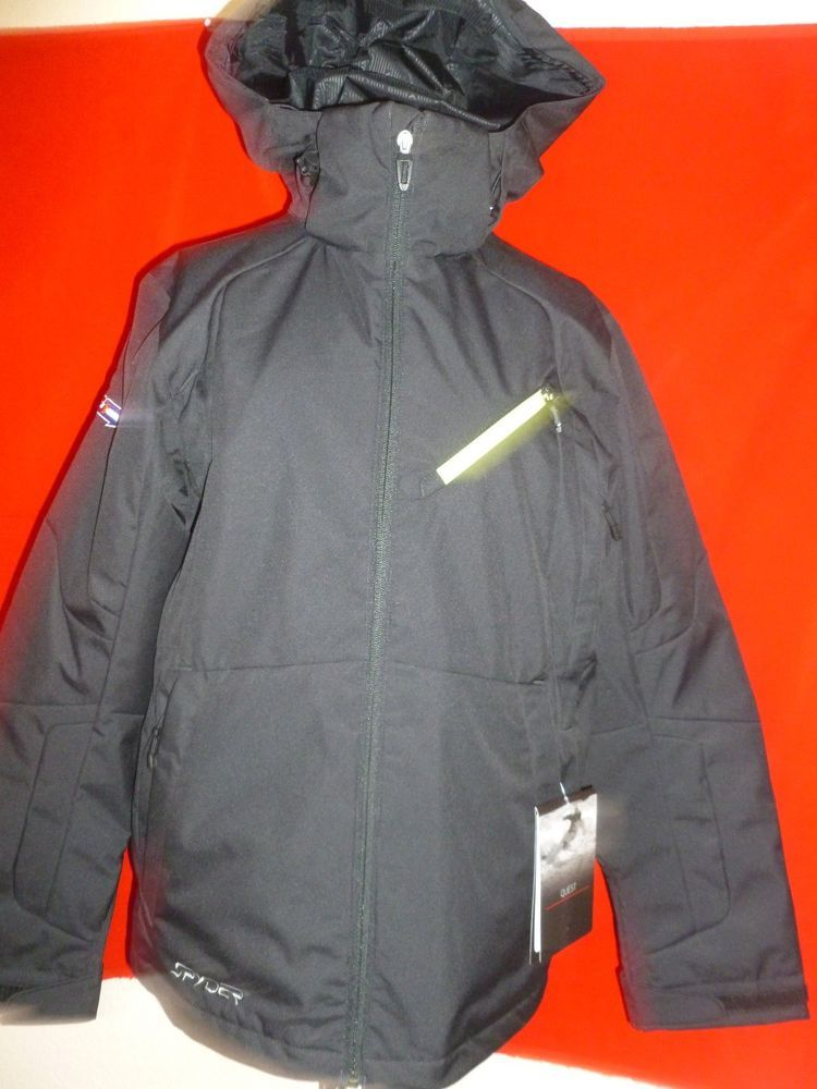 Mens Vintage Vtg Medium Spyder Hooded Outdoor Winter Jacket Coat Blue xCnYK9