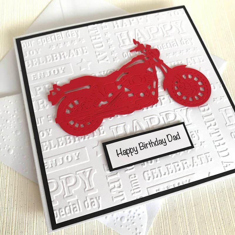 Motorbike Birthday Card Handmade for Dad, Grandad, Husband