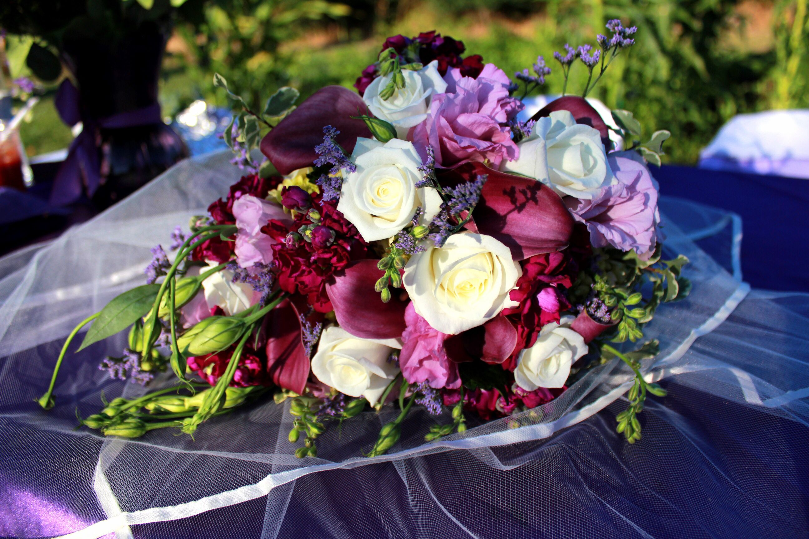 #wedding #flowers #purple