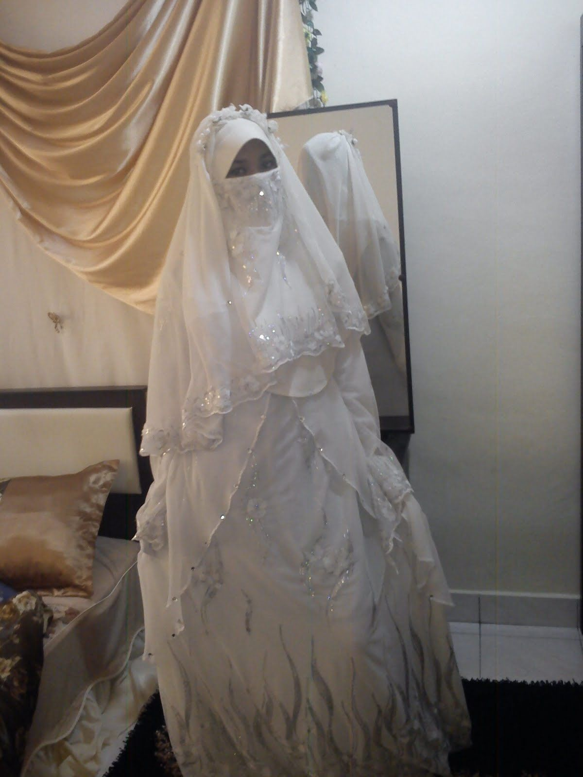 Niqab wedding  Pengantin, Gaun pengantin, Gaun
